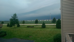 Okay, it's definitely thunder. Also: holy crap, look at these beautiful, wild and crazy clouds.