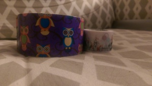 Duck Tape with all sorts of delightful owls and Scotch Expressions with an awesome amusement park sort of scene.